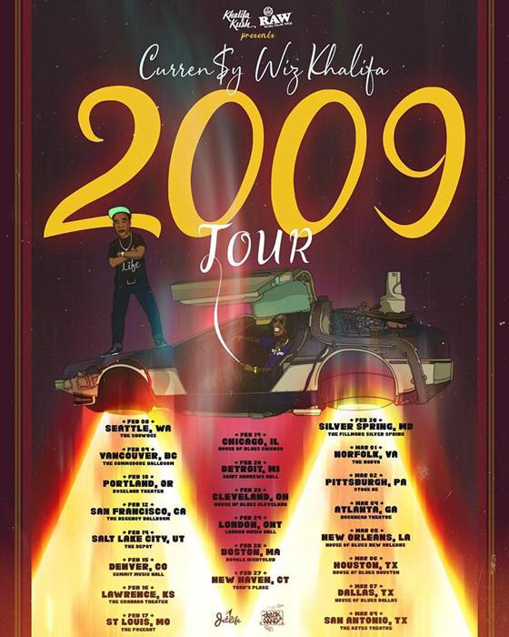 "Curren$y and Wiz Khalifa Map Out ""2009 Tour"""