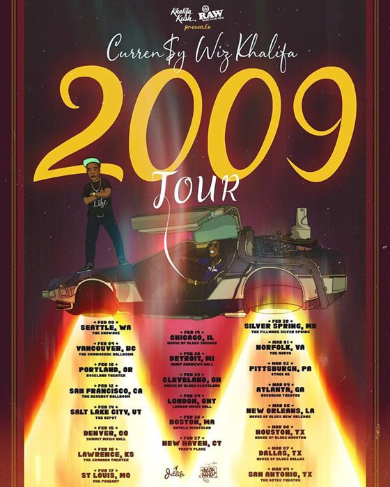 Curren$y and Wiz Khalifa Map Out '2009 Tour'