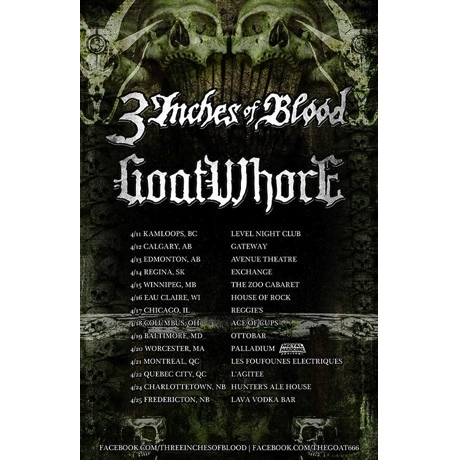 3 Inches of Blood Book Canadian Dates on North American Tour with Goatwhore