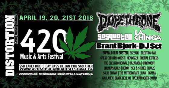 Calgary's 420 Music & Arts Festival Reveals 2018 Lineup
