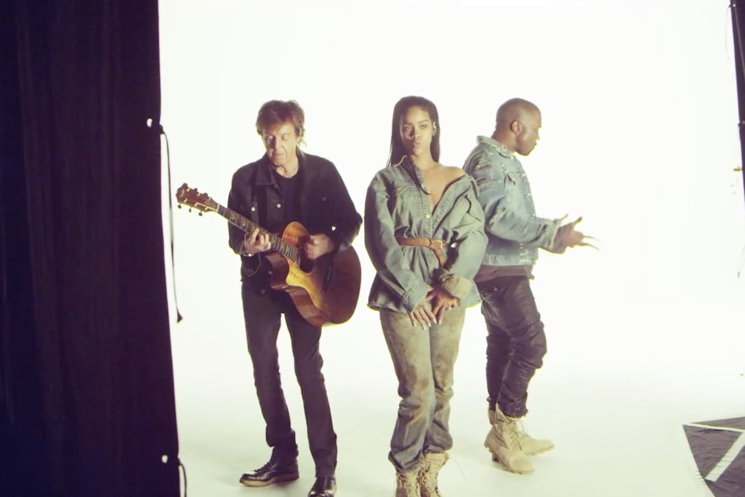 "Rihanna ""FourFiveSeconds"" (behind-the-scenes video) (ft. Kanye West and Paul McCartney)"