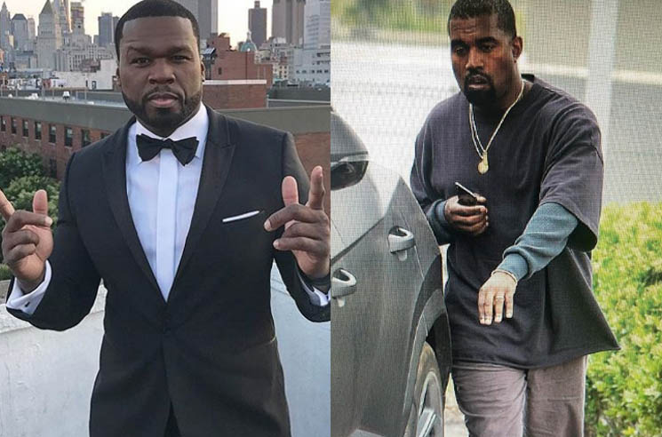 "​50 Cent Tells Kanye West to ""Get the Fuck Outta Here Man"" with His Sweatpant Chic"