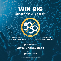 Win Big with the Junos' 50/50 Raffle in Support of MusiCounts