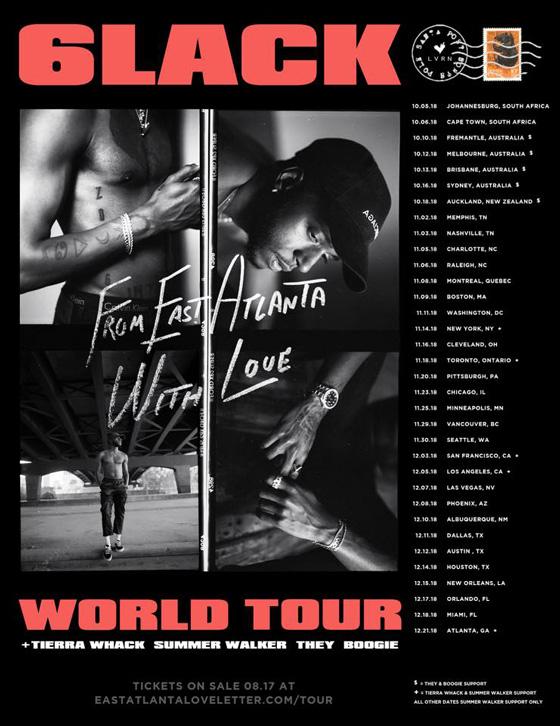 6LACK Maps Out World Tour, Announces New Album