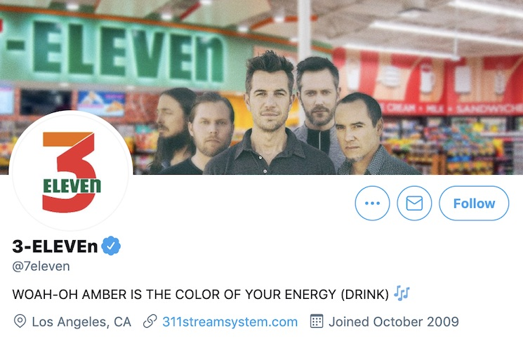 311 and 7-Eleven Traded Twitter Accounts for April Fool's Day