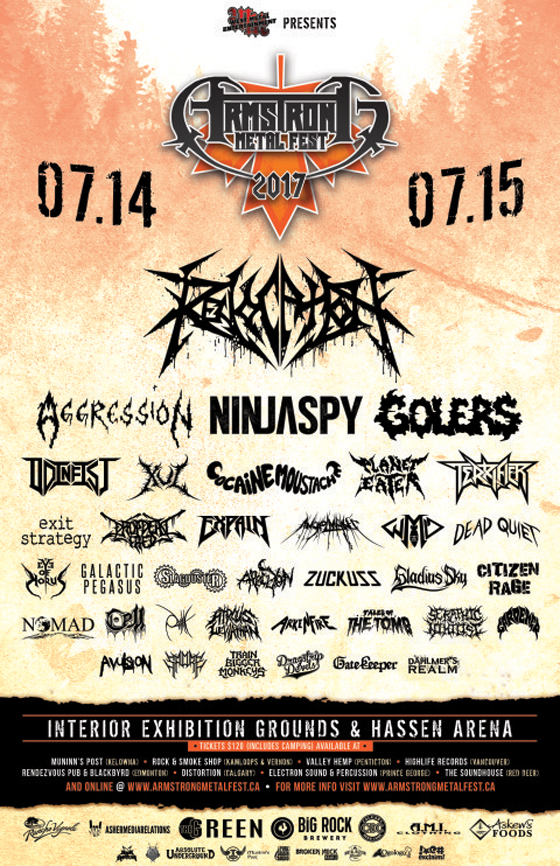 BC's Armstrong Metalfest Gears Up for 2017 Edition