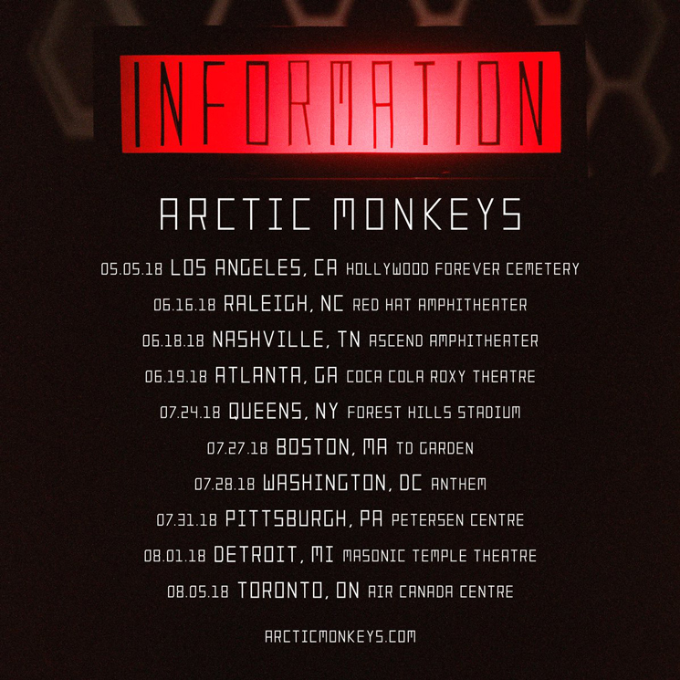 Arctic Monkeys to Play Toronto on North American Tour