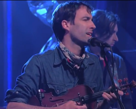 "Andrew Bird ""Eyeoneye"" /  ""Give It Away"" (live on 'Kimmel')"