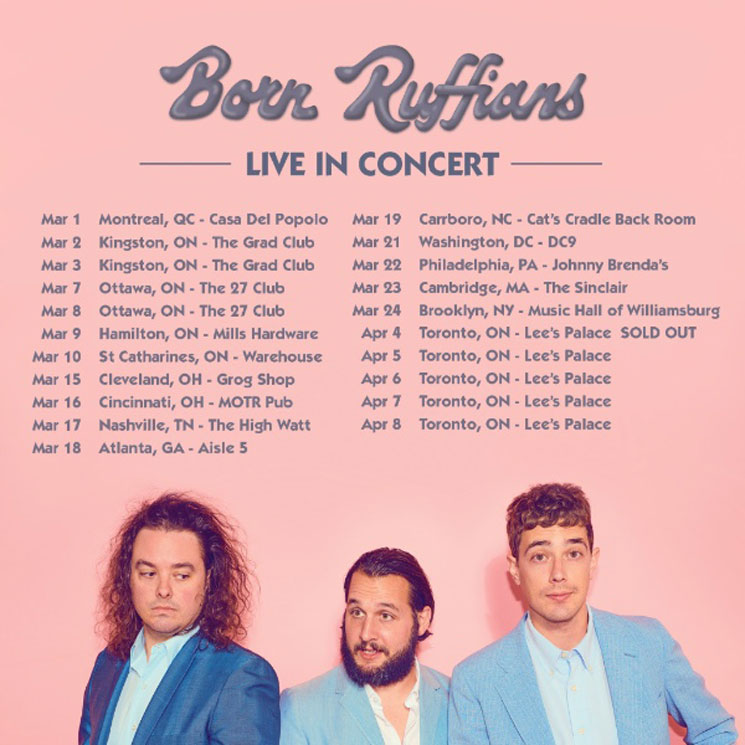 Born Ruffians Plot 2018 North American Tour