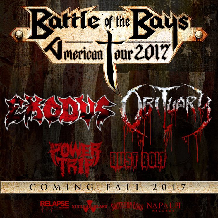 Obituary and Exodus Plot 'Battle of the Bays' Co-Headlining Tour