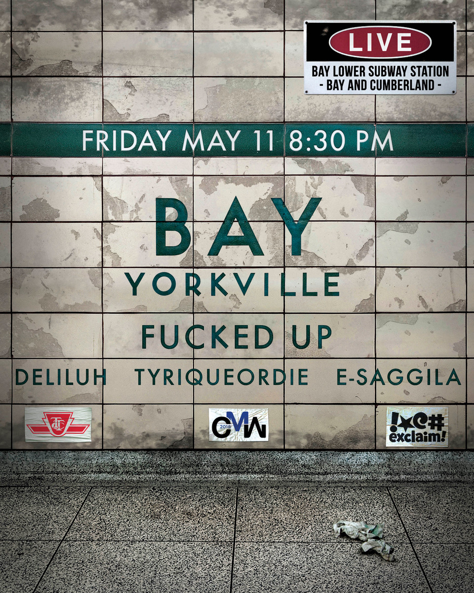 Fucked Up to Headline CMW Underground Showcase in Lower Bay Station