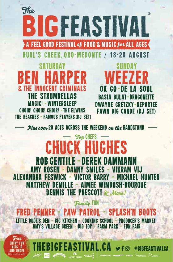 The UK's Big Feastival Comes to Canada with Weezer, De La Soul, the Strumbellas, Basia Bulat