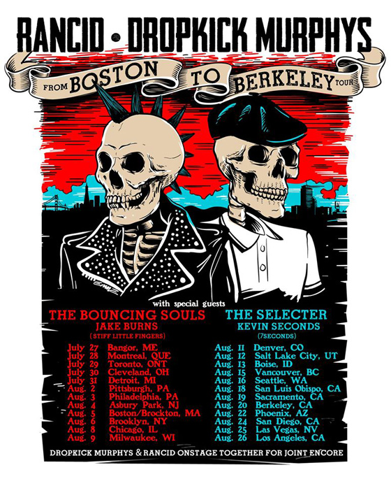"Rancid and Dropkick Murphys Join Forces for ""From Boston to Berkeley Tour"""