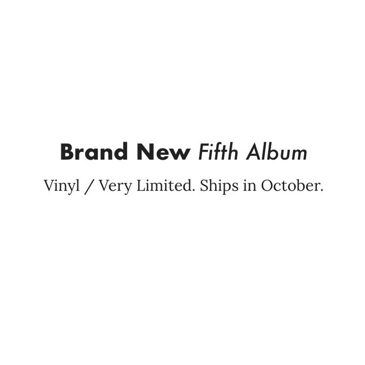 Brand New Launch Pre-Order for New Album