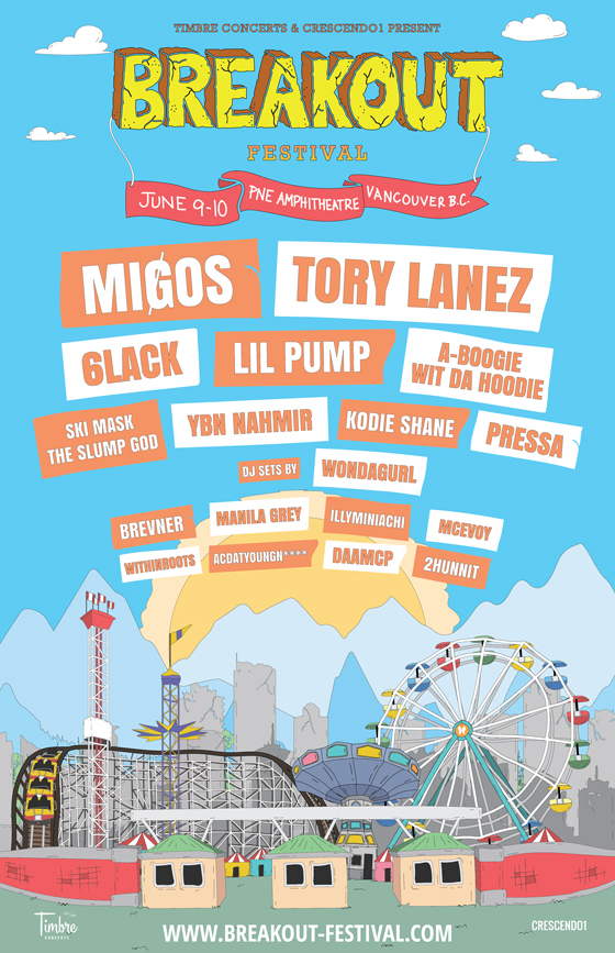 Vancouver's Breakout Festival Gets Migos, Tory Lanez for Inaugural Event