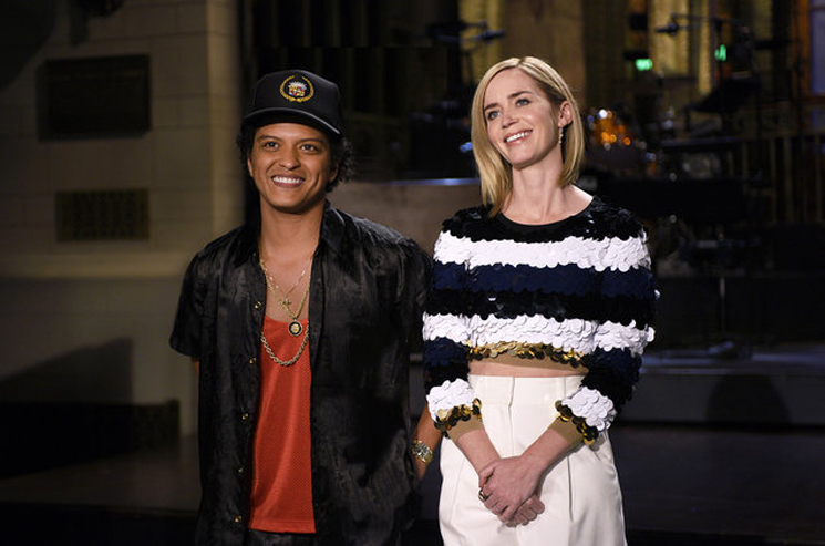 Emily Blunt & Bruno Mars Saturday Night Live, October 15, 2016