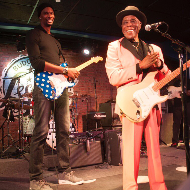 Watch Chris Bosh Play Guitar Onstage with Buddy Guy