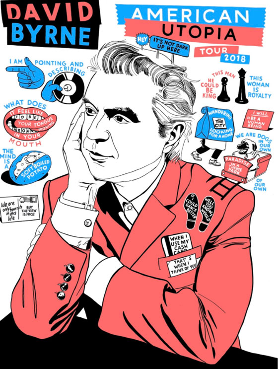 David Byrne Maps Out 'American Utopia' World Tour