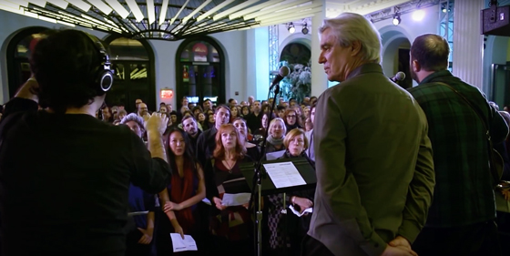 "Watch David Byrne and Choir! Choir! Choir! Team Up to Cover David Bowie's ""Heroes"""