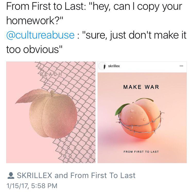 Culture Abuse Accuse From First to Last of Ripping Off Cover Art