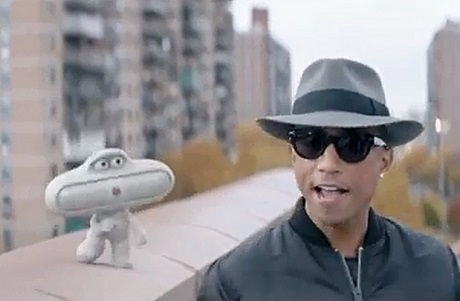 """Pharrell Williams """"Happy"""" (Beats by Dre Beat Pill commercial)"""