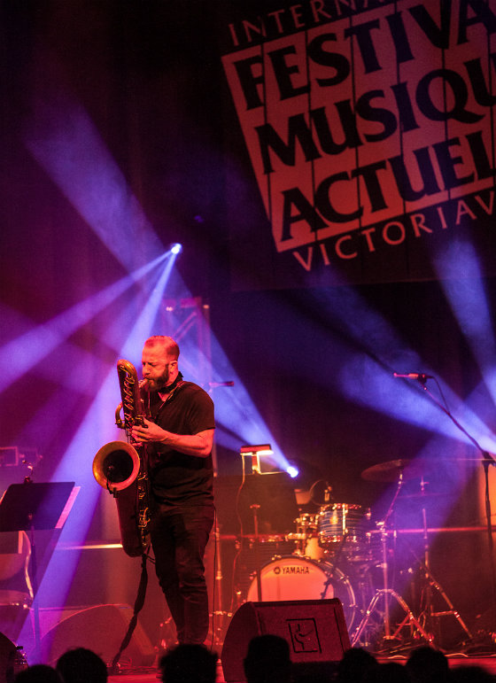 Colin Stetson performing 'Sorrow' Coliseé A, Victoriaville QC, May 18