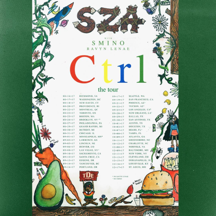 SZA Maps Out North American 'Ctrl' Tour