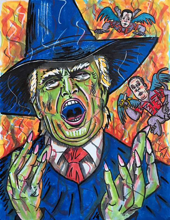 Jim Carrey Portrays Donald Trump as the Wicked Witch of the West in New Portrait