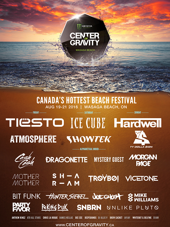 Center of Gravity Gets Tiesto, Ice Cube for Inaugural Ontario Fest