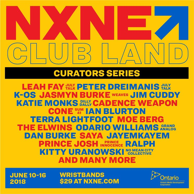 NXNE Reveals 2018 Club Land Curators Series with July Talk, K-os, Jim Cuddy