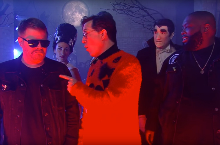 "Watch Run the Jewels Do ""The Halloween Wiggle"" on 'Colbert'"