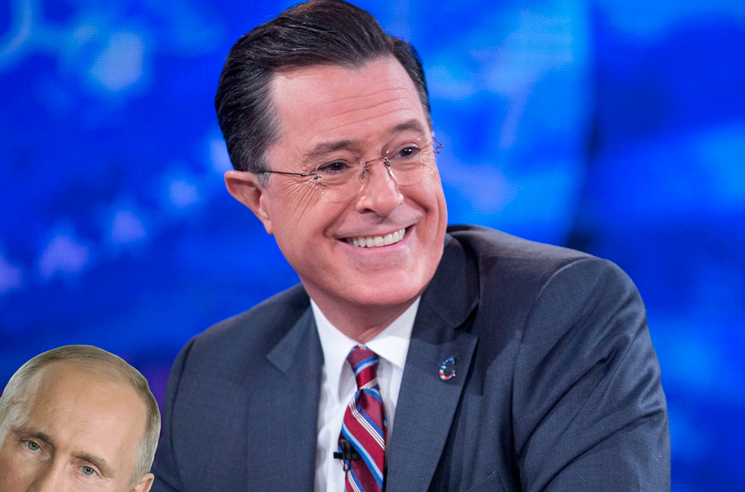 Stephen Colbert Says He Was Followed by Intelligence Officers on Trip to Russia