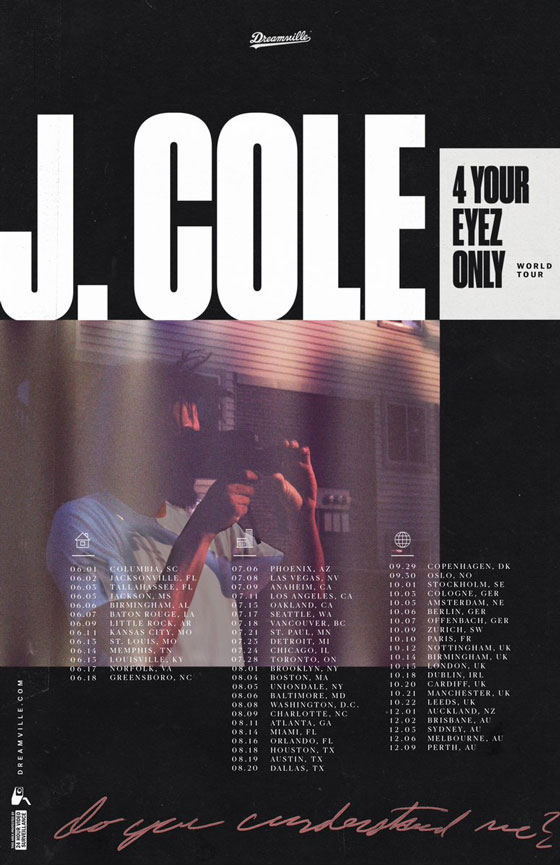 J. Cole Maps Out '4 Your Eyez Only Tour'