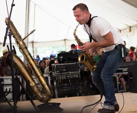 "Colin Stetson ""Judges"" Live from Hillside Festival"