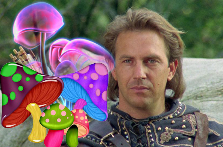 """Kevin Costner Foraged """"the Good Kind"""" of Mushrooms While Filming 'Robin Hood: Prince of Thieves'"""