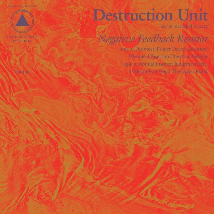 Destruction Unit 'Negative Feedback Resistor' (album stream)