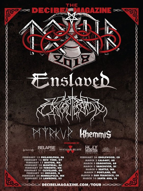 Enslaved, Wolves in the Throne Room, Myrkur Unite for 2018 Decibel Magazine Tour