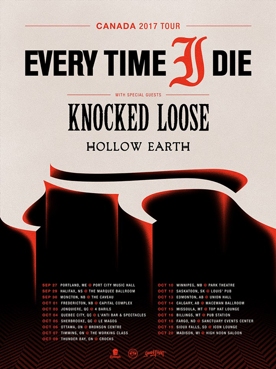 Every Time I Die Join Forces with Knocked Loose & Hollow Earth for Canadian Tour