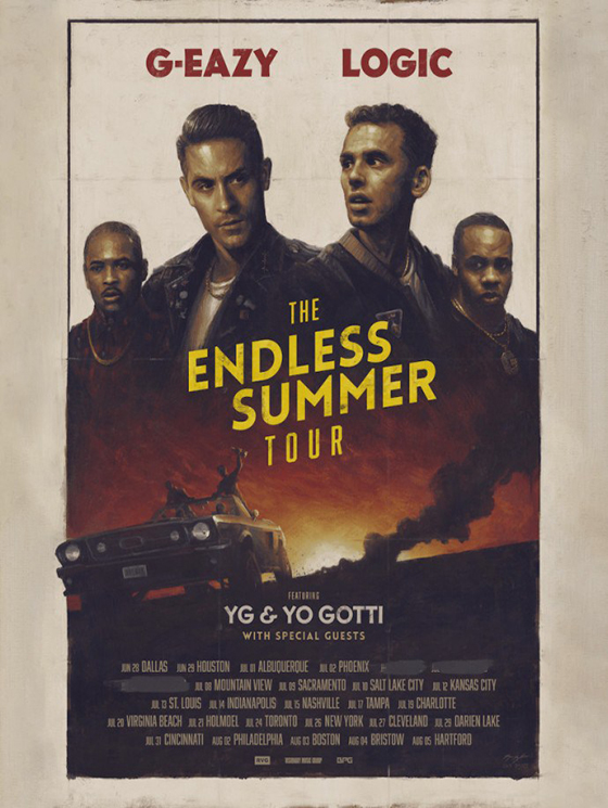 G-Eazy and Logic Plot 'The Endless Summer Tour' with YG and Yo Gotti