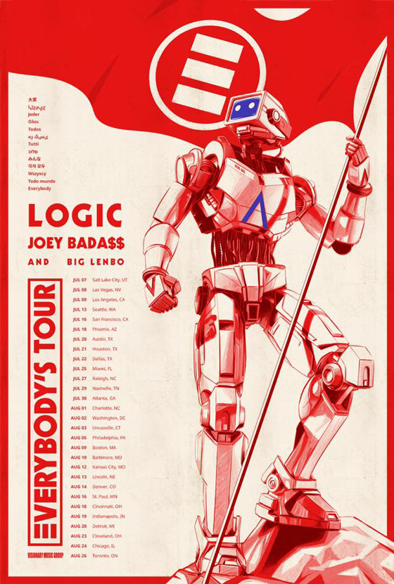 "Logic Announces ""Everybody's Tour"" with Joey Bada$$ and Big Lenbo"