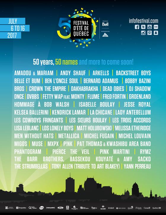 Festival d'Été de Quebec 2017 Gets Metallica, Kendrick Lamar, Muse, Migos