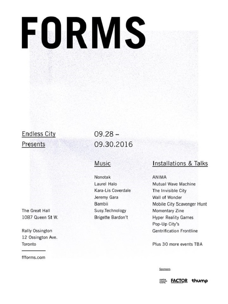 Toronto's Inaugural FORMS Festival Brings Out Laurel Halo, Arcade Fire's Jeremy Gara