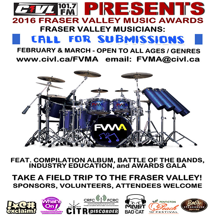 CIVL-FM Calls for Fraser Valley Music Awards Submissions