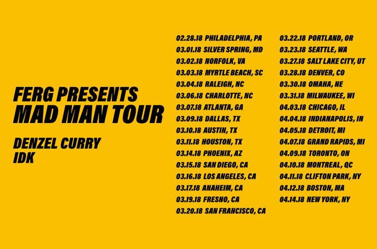 "A$AP Ferg Gets Denzel Curry and IDK for ""Mad Man Tour"""