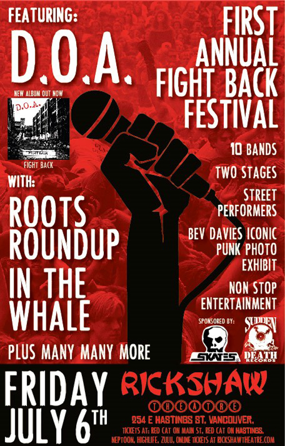 D.O.A. Detail Inaugural Fight Back Festival