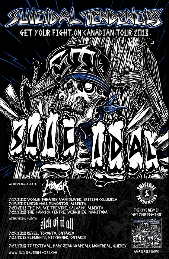 Suicidal Tendencies Plot Canadian Tour with Havok and Sick of It All