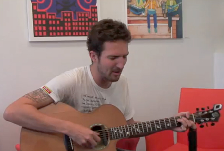 Frank Turner Performs in the Exclaim! Meeting Room