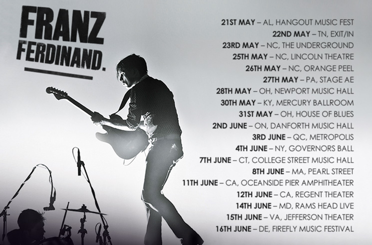 Franz Ferdinand Plot North American Spring Tour