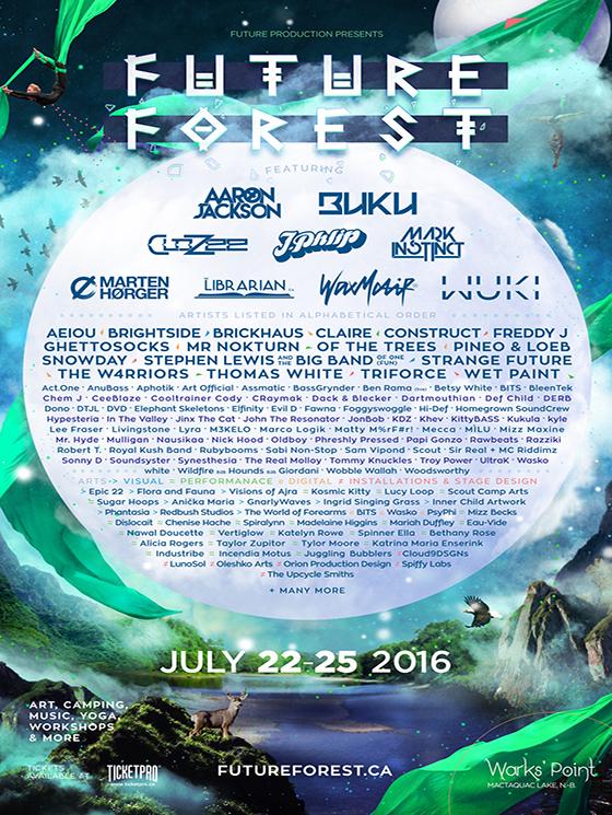 New Brunswick's Future Forest Festival Announces 2016 Lineup