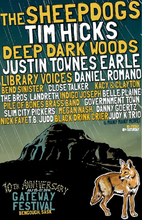 The Sheepdogs, Deep Dark Woods and Justin Townes Earle Lead Gateway Festival's Initial 2014 Lineup